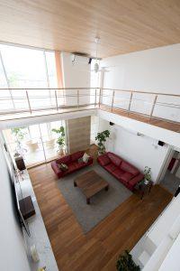 高性能住宅のリビング