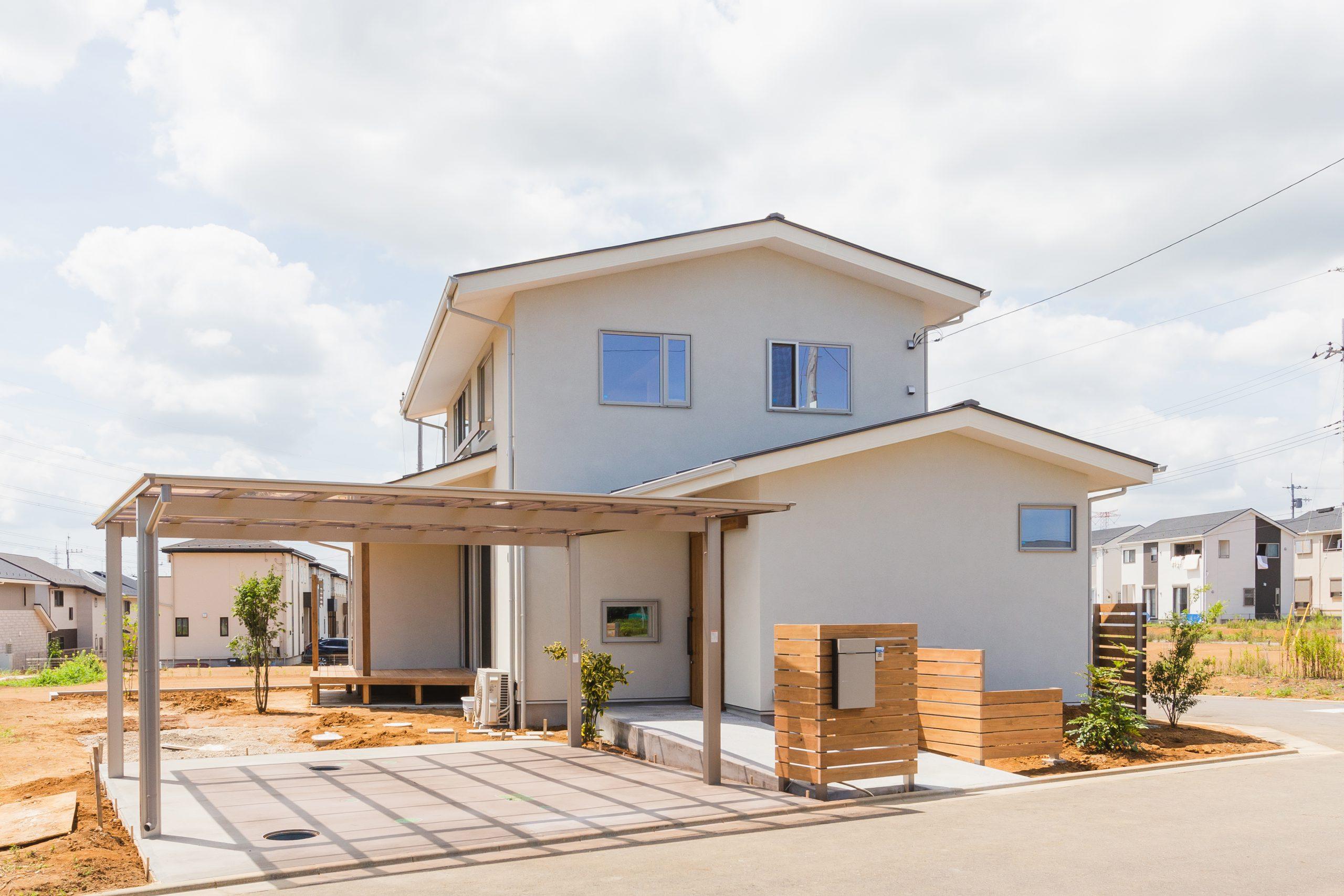 筑波山を取り込む借景の家