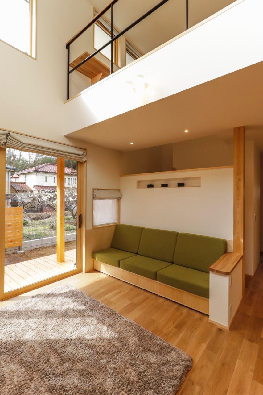 オーダーメイドのソファの実例:家事ラクなシンプルナチュラルの家