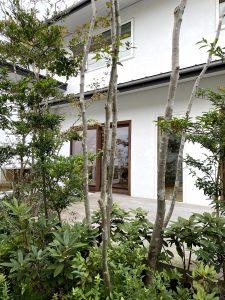 日建ホームのモデルハウスの庭